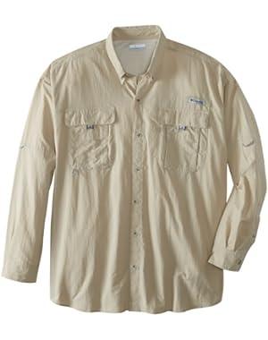 Men's Bahama II Long Sleeve Extended Shirt (Big), Fossil, 4X