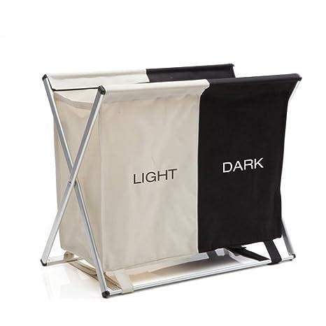 Sabichi luces y Darks cesta para la colada, poliéster, plateado: Amazon.es: Hogar