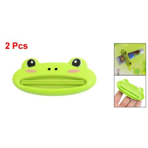 FACTORY PRICE Islandoffer 2 Pcs Green Plastic Frog Shaped Toothpaste Squeezers
