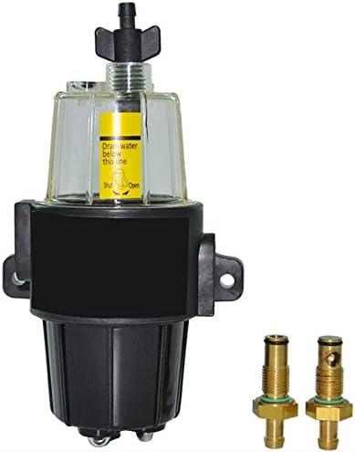 Bol Transparent pour R/éServoir de Carburant de Moteurs Hors-Bord CUHAWUDBA Ensemble de S/éParateur deau de Filtre /à Carburant pour Moteur DEssence de Bateau de Yacht UF-10K