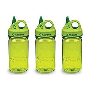 Nalgene Tritan Grip-N-Gulp Kids Water Bottle, Spring Green - 3