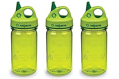 Grip-n-Gulp Kids Water Bottle Spring Green Set of 3 - Nalgene Grip N-gulp