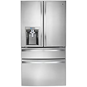 Kenmore Elite 72483 29.9 cu. ft. 4 Door Bottom Freezer Refrigerator with Dispenser in Stainless Steel, includes delivery and hookup (Available in select cities only)