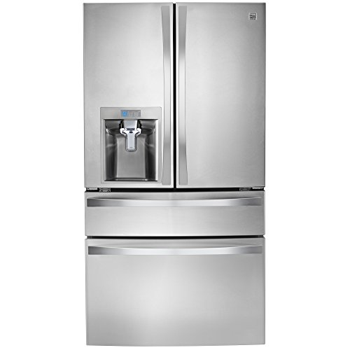 Kenmore Elite 72483 29 9 Cu  Ft  4 Door Bottom Freezer Refrigerator With Dispenser In Stainless Steel  Includes Delivery And Hookup  Available In Select Cities Only