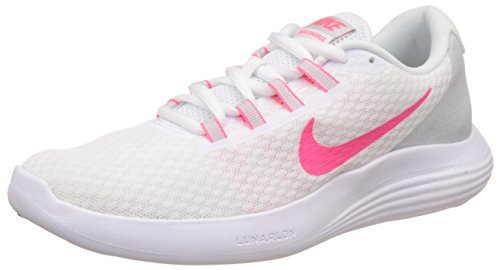 035a76279db68 Nike Women s Lunarconverge White Racer Pink - Pure Platinum Ankle-High Running  Shoe 9.5