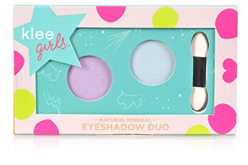 Luna Star Naturals Klee Girls Eyeshadow Duo, Key West Splash Rainier Blossom/Baby Blue/Lavender, 1.3 Ounce