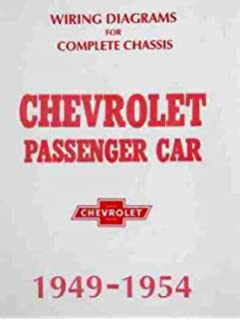 chevrolet complete set of factory electrical 1949 1950 1951 1952 1953 1954 wiring  diagrams & schematics