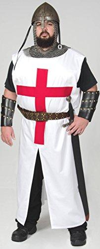 Templar Crusader Knight Tunic Medieval Latin Cross (XXLarge) Handmade In Stock (Mens Templar Knight Costume)