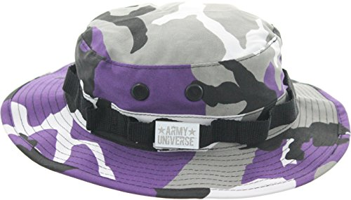 Army Universe Purple Camouflage Tactical Boonie Bucket Hat with Pin - Size Medium 7 (Boonie Hat Camouflage Hat)