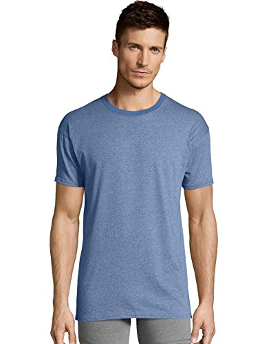 Hanes Mens 1901 Heritage Dyed Crewneck T-Shirt 4-Pack, XL, Assorted