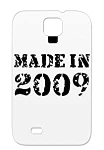 Made In 2009 Black Birthdays Holidays Occasions Tear-resistant For Sumsang Galaxy S4 Protective Hard Case
