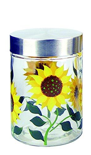 Grant Howard Sunflower Hand Painted Glass Storage Jar, 42...