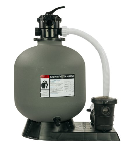 Rx Clear Radiant 22 Inch Above Ground Swimming Pool Sand Filter System w/1.5 HP Pump by Radiant