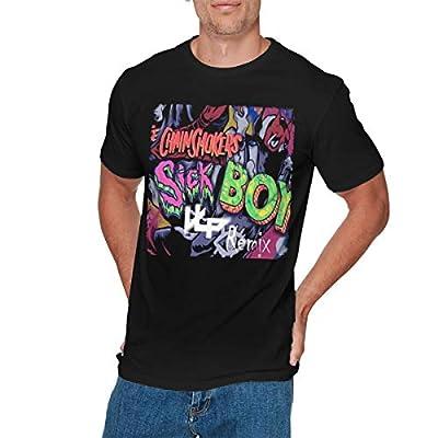 EMILY MORAN Mens Classic The Chainsmokers T Shirt Black