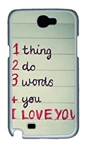 1 thing 2 do 3 words 4 you Custom Designer For Iphone 4/4S Case Cover - Polycarbonate - White