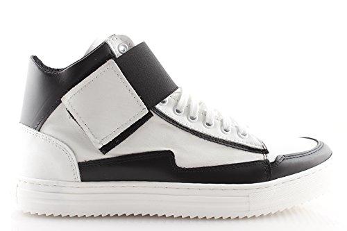 In Bianco Pelle Moda 45 Invernali Scarpe 39 43 Alte Bianche Sneakers Uomo Italy Lacci Made 40 41 Nere 42 44 SUzMVqpG