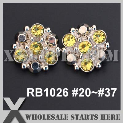 Maslin Color Option: RB1026#20~#37 / Square Acrylic Rhinestone Button Shank Backing/Wholesale Bulk - (Color: 27 Black Diamond, Size: 18mm)