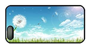 Hipster iphone 5 buy cases The wind carries dandelion PC Black for Apple iPhone 5/5S