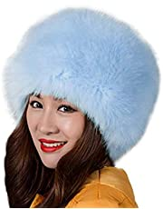 Faux Fur Hat for Women Men,Russian Faux Fur Hat Winter Comfy Faux Fox Fur Hat