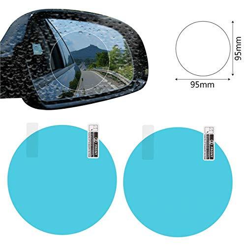 - 2PCS Car Mirror Window Clear Film Anti Dazzle Car Rearview Mirror Protective Film Waterproof Rainproof Anti Fog Car Sticker 95x95mm