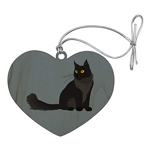 GRAPHICS & MORE Maine Coon Cat Heart Love Wood Christmas Tree Holiday Ornament