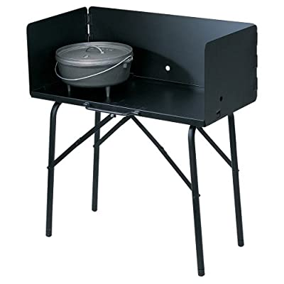 Image of Lodge A5-7 Camp Cooking Table, 26' x 16' x 32', Black Home and Kitchen