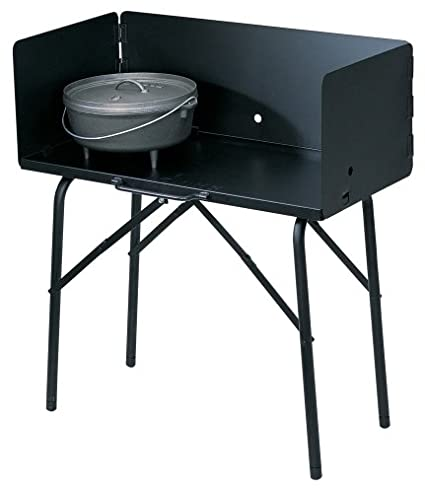 amazon com lodge a5 7 camp cooking table 26 x 16 x 32 black rh amazon com dutch oven table uk dutch oven table uk