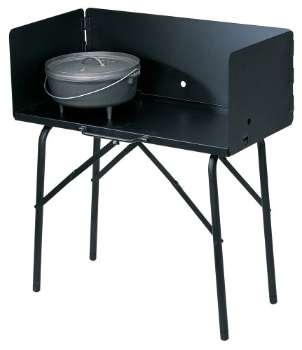 "Lodge A5-7 Camp Cooking Table 26"" x 16"" x 32"" Black"