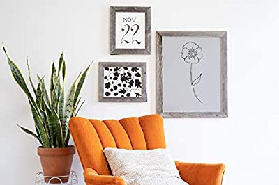 BarnwoodUSA Rustic Photo Frames 1 1/2 Inch Wide - 100% Reclaimed Wood, Weathered Gray