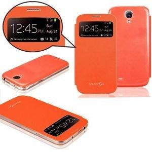 best loved 0b3ee 4dd4b Generic Flip cover for Samsung Galaxy S4 Mini GT-i9192 (Orange ...