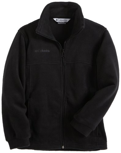 Columbia Big Boys' Steens Mountain Full Zip Fleece, Black, 10/12 by Columbia