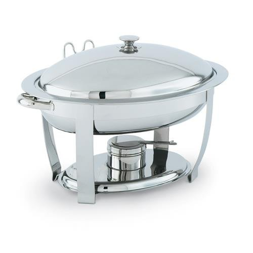 Vollrath 46500 Orion Large Oval Mirror Finish Lift-Off 6 Quart Chafer