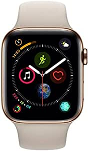 Apple Watch Series 4-44 mm Gold Stainless Steel Case with Stone Sport Band, GPS + Cellular, watchOS 5 - MTX42AE/A