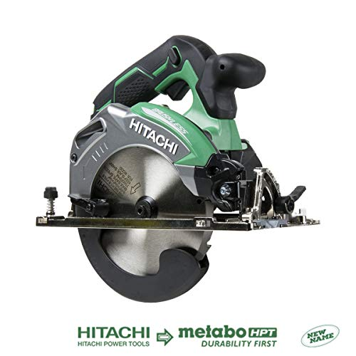 "Hitachi C18DBALP4 18V Cordless Brushless Lithium Ion 6-1/2"" Deep Cut Circular Saw (Tool Only, No Battery)"