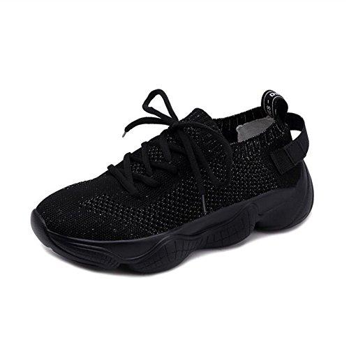 Zapatos de Verano de Marea Salvaje para Mujer, Zapatillas de Deporte Respirables, Zapatos atléticos Bajos con Cordones de la versión Coreana Un