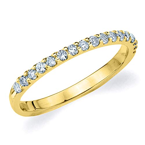Legacy 1/3CT Diamond Ring, Genuine Diamond Wedding Anniversary Ring in 14K Yellow Gold - Finger Size -