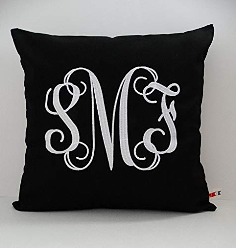 Interlocking Vine MONOGRAM PILLOW Cover | Sunbrella Pillow | Initial Pillow | Monogram Throw Pillow | Dorm Pillow | Monogrammed Sham | Personalized Pillow Cover | Custom made by the OBA Canvas Co.