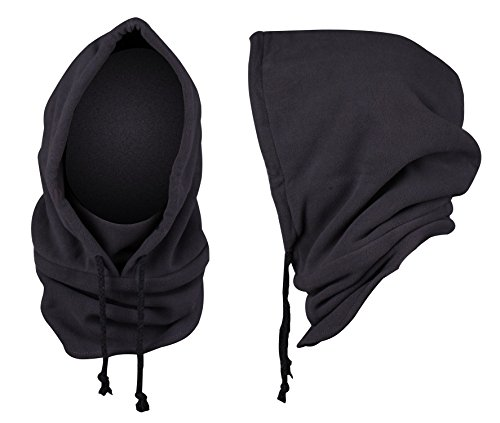 Really Cool Masks (JIERKU MENS Hat with Ear Flaps and Cool Face Masks One Size Fits All of men Grey)