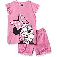 Pijama Curto Minnie, Disney, Meninas, Mescla Rosa