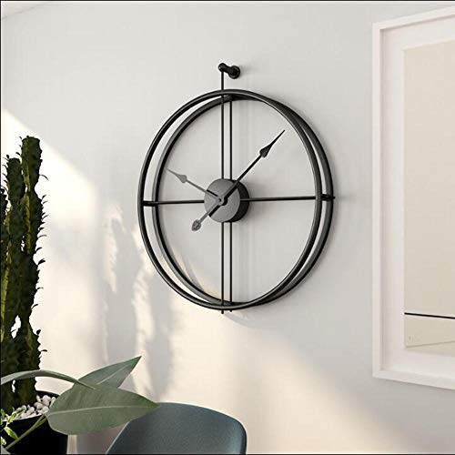 DENG&JQ Creative Fashion Wall Clock,Nordic Fashion Wrought Iron Wall Clock Simple Clock Craft Clock for Office Bedroom Living Room-A 52x59cm(20x23inch) ()