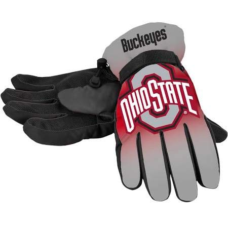 Forever Collectibles NCAA Ohio State Buckeyes Insulated Gradient Big Logo Gloves, Team Colors, Large/X-Large