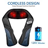 MaxKare Cordless Rechargeable Shoulder Massager Back Neck Shiatsu Massage with 3D Massage Nodes