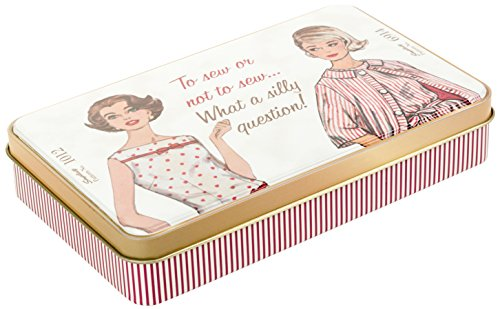 - Simplicity Vintage Fashion 60's Tin Box Travel Sewing Kit, 7.5