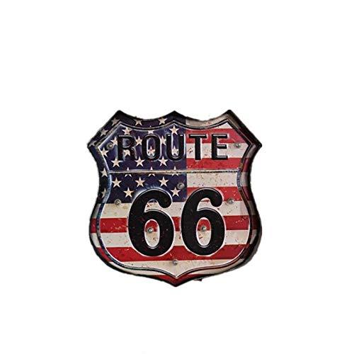 Route 66 LED Vintage Signs Pub Bar Decoración Lámpara de ...