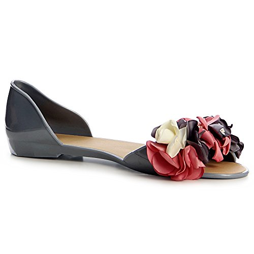 topschuhe24 topschuhe24 Femmes Sandales Gris Femmes Sandalettes CYWRwZx