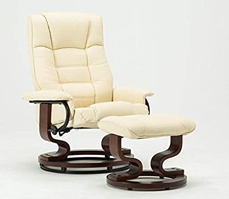 Amazing Amazon Com Mcombo Leather Swiveling Recliner Chair With Machost Co Dining Chair Design Ideas Machostcouk