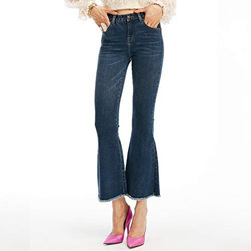 Neue dnne mit MVGUIHZPO S enge Taille Jeans Taille Femme elastische Jeans Jeans Schlaghosen hoher qIpPE