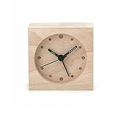 Kikkerland Wooden Alarm Clock, Large
