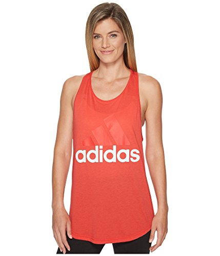 tials Linear Loose Tank Top Real Coral/White X-Small ()