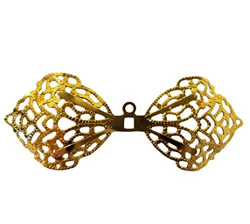 60mm Miniature Gold Metal Filigree Angel Fairy Wings (Pack of 20)